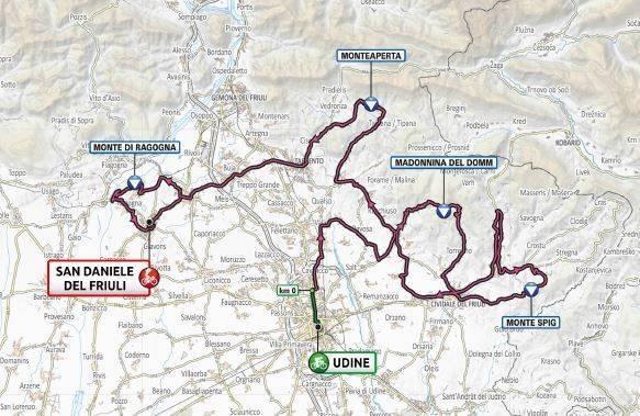 Giro d'Italia per tre giorni in Friuli, uno anche a Udine